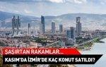 Kasım ayında İzmir'de kaç konut satıldı?