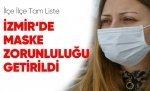 İzmir'e Maske Zorunluluğu Getirildi